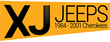Image With Text 'XJ JEEPS: 1984 - 2001 Cherokees'